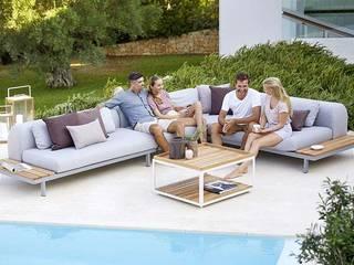 Cane-line outdoor sofa scandinavian- interior furnutire İskandinav