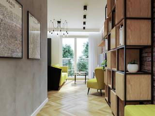 Corredores, halls e escadas industriais por CONTECH Architektura Industrial