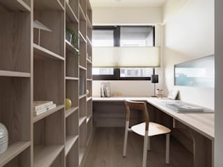 Scandinavian style study/office by 寓子設計 Scandinavian