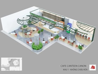 Thiết kế nội thất canteen Canon bởi Thiết Kế Nội Thất - ARTBOX