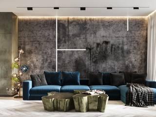 Fantastic elegant apartment in Barcelona, 170 m2 Гостиная в стиле модерн от ANNAROMEO DESIGN Модерн