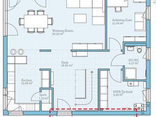 Modernes variables Fertighaus mit Satteldach von Hanse Haus GmbH