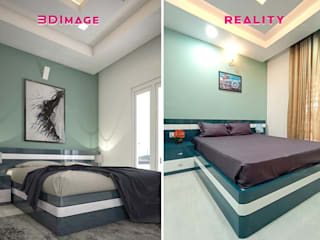 Monnaie Interiors Pvt Ltd Small bedroom Wood Wood effect