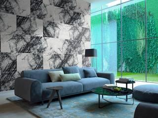 Kar Maden Mermer Modern living room Marble White