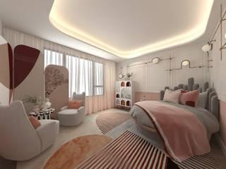 villa projesi DESİGN MİMARLIK Genç odası Ahşap Pembe