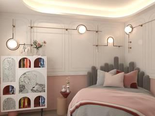 villa projesi DESİGN MİMARLIK Kız çocuk yatak odası Ahşap Pembe