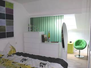 Aménagement habitations MUTATIS Chambre classique Vert