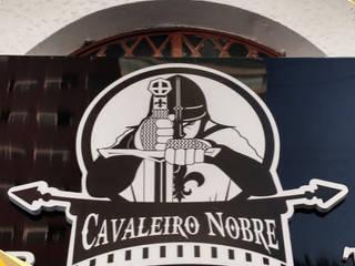 Fachada Barbearia - Letras Caixas e Letreiros Paredes e pisos modernos por North Visual - Letreiros e Fachada em Acm Moderno