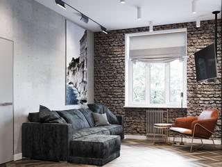 Cozy Loft Style Apartment. 1 bedroom, 97 m2, Barcelona. Гостиная в стиле лофт от ANNAROMEO DESIGN Лофт