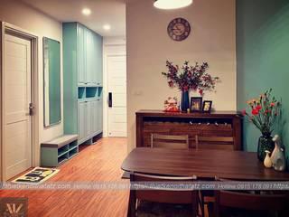 Dự án thiết kế nội thất căn hộ Bea Sky Nguyễn xiển 70m2 Phòng khách phong cách tối giản bởi ATZ LUXURY Tối giản