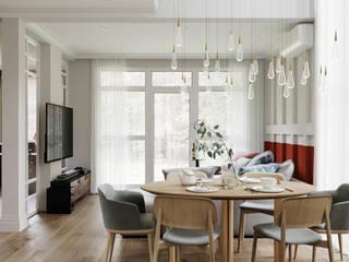 Family house   140 кв. м   Проект загородного дома в стиле современная классика Гостиная в классическом стиле от MIYAO   КАТЕРИНА БОРОДИНА И ПИТЕРСКИЙ СЕРГЕЙ Классический