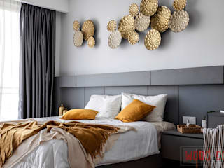 𝐏𝐄𝐍𝐓𝐇𝐎𝐔𝐒𝐄 | 𝐒𝐈𝐌𝐏𝐋𝐄 𝐋𝐔𝐗𝐔𝐑𝐘 𝐋𝐈𝐕𝐈𝐍𝐆 Modern style bedroom by WOOD & COL SDN BHD Modern