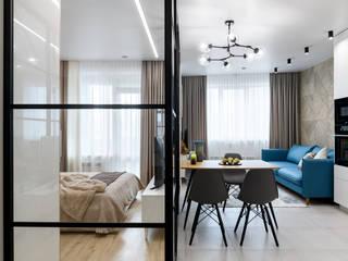 Квартира в современном стиле Гостиная в стиле лофт от ООО 'Интерьер-бюро' Лофт