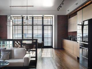 Реализованный проект   219 кв. м   Bay view apartment   Квартира в стиле лофт Кухня в стиле лофт от MIYAO   КАТЕРИНА БОРОДИНА И ПИТЕРСКИЙ СЕРГЕЙ Лофт