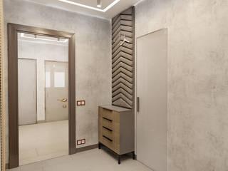 Дизайн 2х-комнатной квартиры, 55 м² Коридор, прихожая и лестница в стиле минимализм от Студия дизайна интерьеров и ремонта Алексея Выходца Минимализм