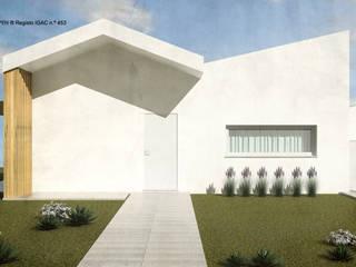 ATELIER OPEN ® - Arquitetura e Engenharia Landhaus Holzwerkstoff Weiß
