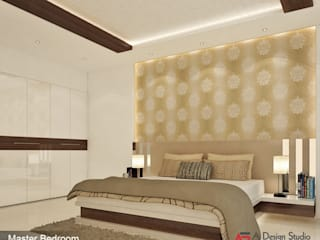 A Design Studio Modern style bedroom Wood Beige