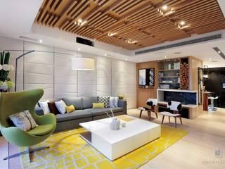 ParkLand, Shenzhen China Modern living room by Darren Design & Associates 戴倫設計 Modern