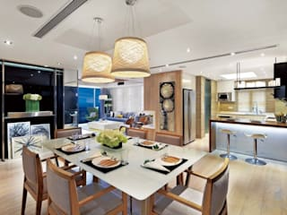 ParkLand, Shenzhen China Modern dining room by Darren Design & Associates 戴倫設計 Modern