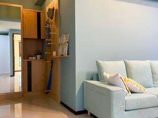 家就該隨心所欲 工業風的玄關、走廊與階梯 根據 法柏室內裝修設計 工業風