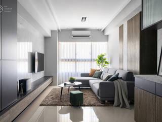 Livings de estilo moderno de E&K宜客設計 Moderno