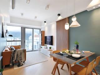 One Kai Tak, Hong Kong Modern living room by Darren Design & Associates 戴倫設計 Modern