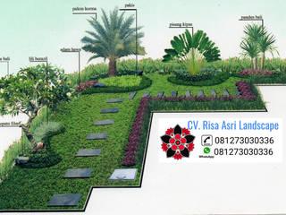 ide rumah minimalis cv. risa asri landscape Taman Tropis Batu Kapur Brown