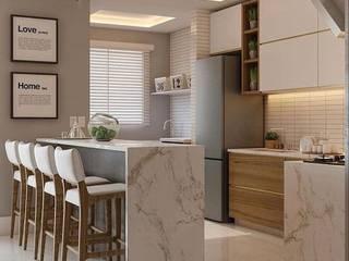 Simple,Modern& Stylish looking Kitchen Inside Storiez Kitchen units Quartz White