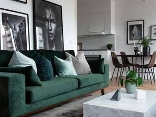 2BHK FLat interiors with Modern Details@Maheshwari Apartments, Hyderabad.: modern  by Inside Storiez,Modern