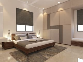 Master Bedroom Asian style bedroom by Inside Storiez Asian Plywood