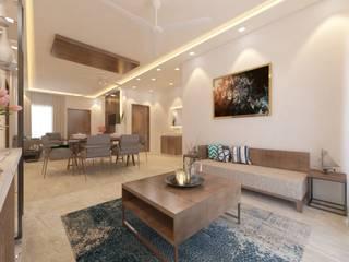 3BHK @Aparna Sarene Park, Hyderabad. Asian style dining room by Inside Storiez Asian