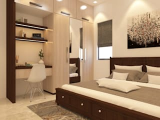Guest Bedroom Asian style bedroom by Inside Storiez Asian Plywood