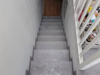 Rénovation sol, cloison, revêtements muraux Rueil Malmaison Rinnova Escalier Béton Gris