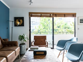 Remodelación departamento Las Condes TRAMA ARQUITECTOS Livings de estilo minimalista