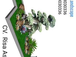 cat wosh cv. risa asri landscape Ruang Komersial Tropis Batu Black