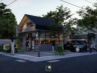 Rancang Reka Ruang Terrace house Concrete Grey