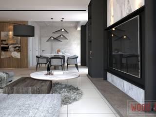 𝐄𝐂𝐎 𝐇𝐎𝐑𝐈𝐙𝐎𝐍 | 𝐄𝐗𝐐𝐔𝐈𝐒𝐈𝐓𝐄 𝐌𝐎𝐃𝐄𝐑𝐍 𝐃𝐀𝐑𝐊 Modern dining room by WOOD & COL SDN BHD Modern