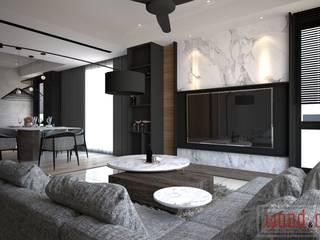 𝐄𝐂𝐎 𝐇𝐎𝐑𝐈𝐙𝐎𝐍 | 𝐄𝐗𝐐𝐔𝐈𝐒𝐈𝐓𝐄 𝐌𝐎𝐃𝐄𝐑𝐍 𝐃𝐀𝐑𝐊 WOOD & COL SDN BHD Living room