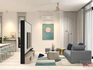 𝐒𝐄𝐌𝐈-𝐃 | 𝐕𝐄𝐑𝐒𝐀𝐓𝐈𝐋𝐄 𝐍𝐄𝐔𝐓𝐑𝐀𝐋 𝐇𝐎𝐔𝐒𝐄 WOOD & COL SDN BHD Living room
