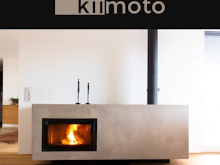 kiimoto kamine Living roomFireplaces & accessories Iron/Steel Brown
