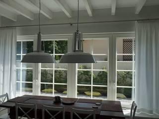 Dekoracje Okien Evoart Ruang Makan Gaya Skandinavia White