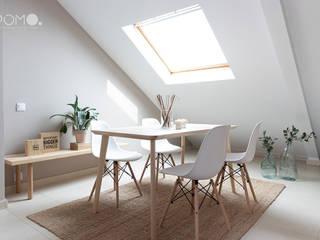 Home Staging. Buhardilla en Móstoles POMO. Home Staging & Design Studio Comedores de estilo escandinavo