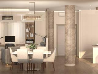 Геометрия в деталях Столовая комната в стиле минимализм от Кристина Швецова - дизайн с душой Минимализм