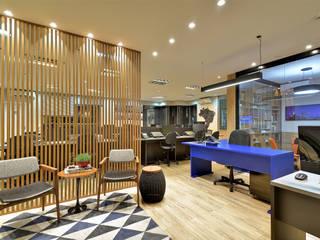 AVR Studio Arquitetura Bangunan Kantor Modern MDF Blue