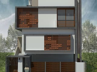 Courtyard House: asian  by Studio Diksuchi Architects,Asian