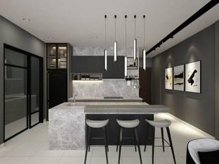 Moulmein Rise L7 Interior Design Modern style kitchen