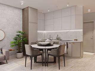 Квартира в скандинавском стиле Кухня в скандинавском стиле от ArhPredmet Скандинавский