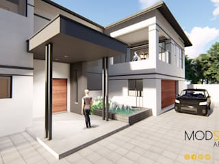 A Modern House Design in Kyalami, Johannesburg Modern houses by Modscape Architects Modern