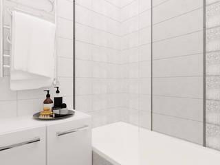 Светлый и домашний интерьер квартиры для семьи в Минске Ванная комната в скандинавском стиле от ArhPredmet Скандинавский