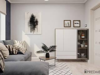 Светлый и домашний интерьер квартиры для семьи в Минске Гостиная в скандинавском стиле от ArhPredmet Скандинавский